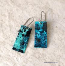 Natural Blue Patina Earrings