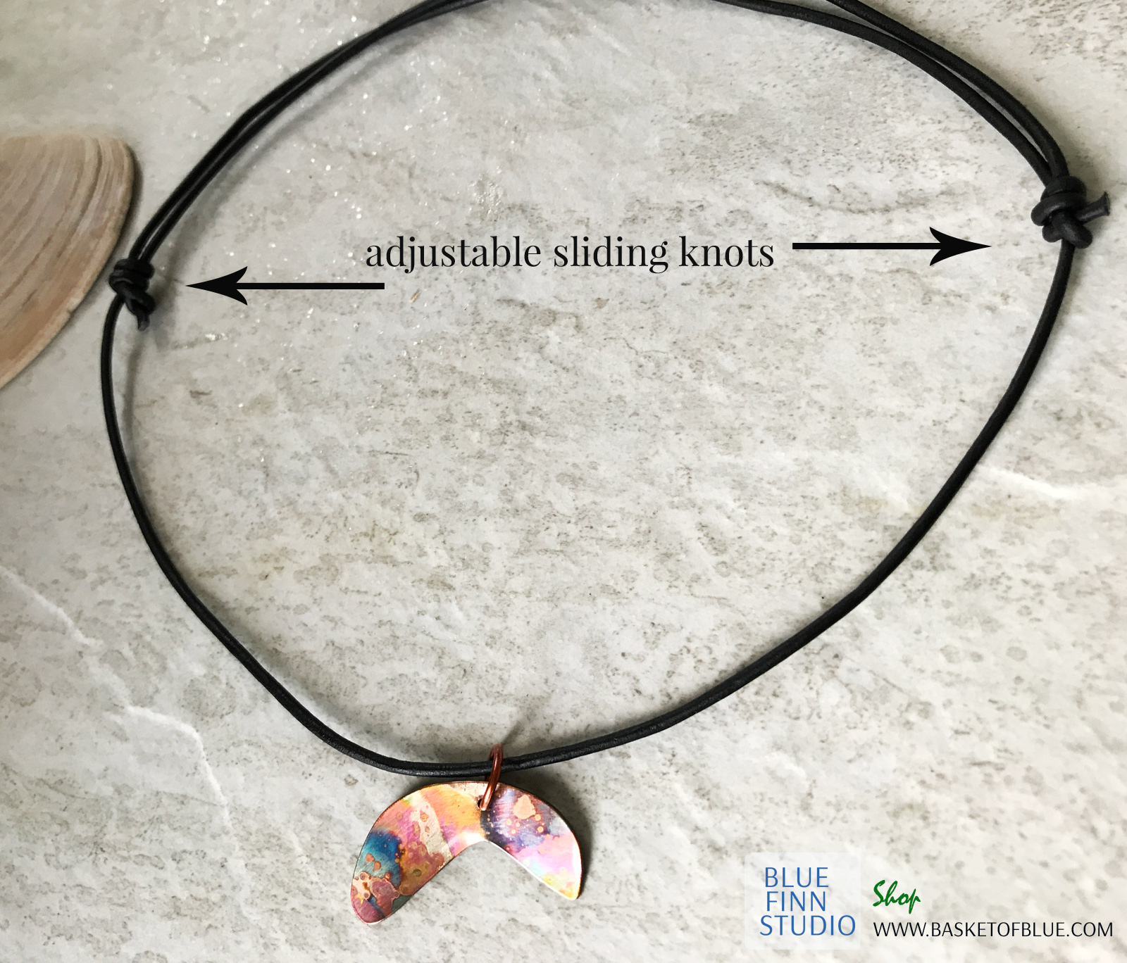 Surfer Kite Surfing Necklace with knot closure