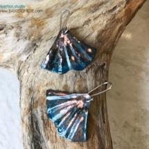 MERMAID TAIL patina earrings